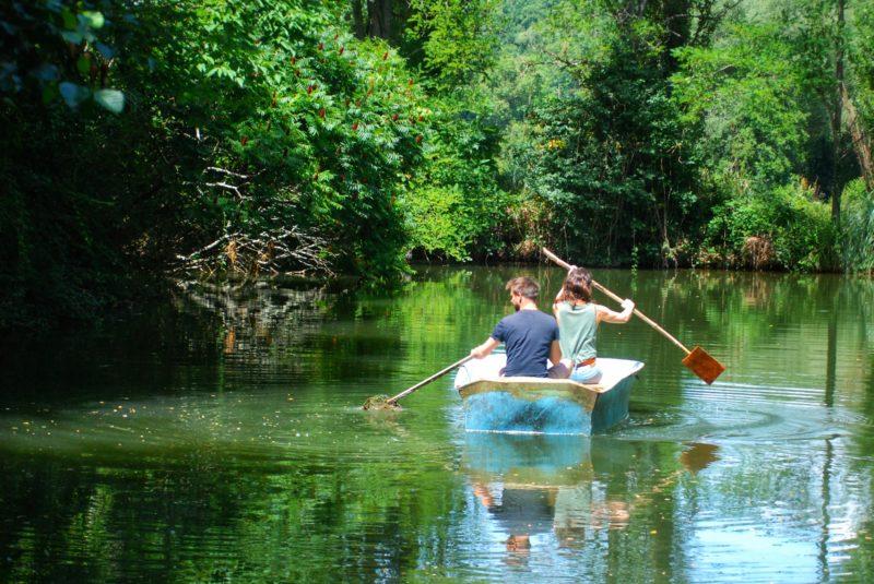 speelvijver water vakantie kinderen Domaine du Merlet Frankrijk