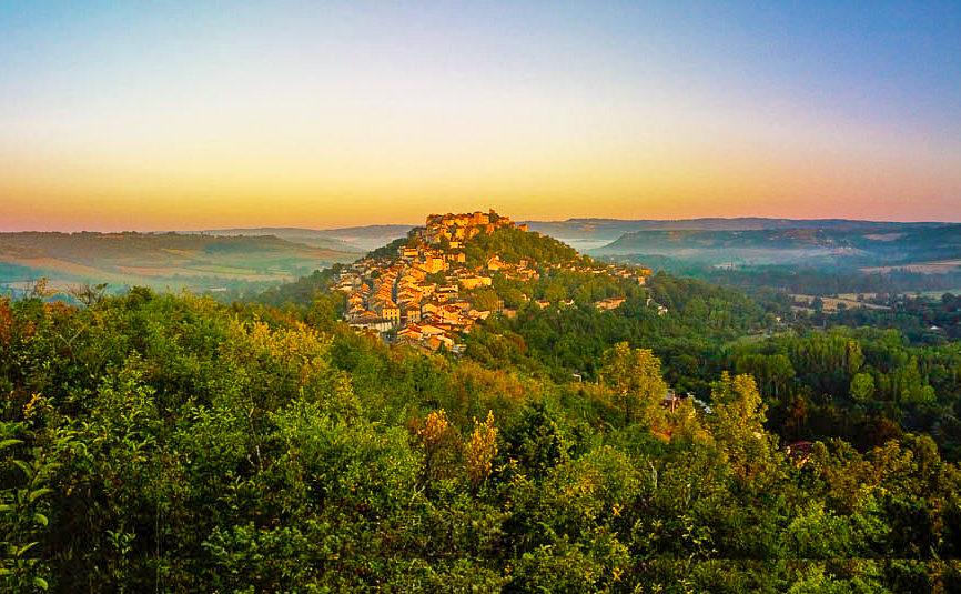 Cordes sur Ciel bergtop frankrijk vakantie
