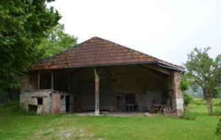 schuur grange Domaine du Merlet vakantie domein Frankrijk