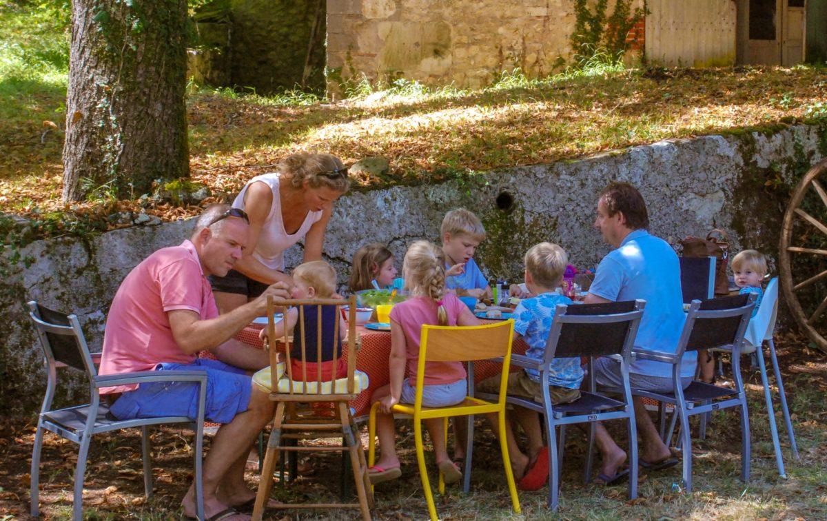 table d'hôtes eten en drinken Domaine du Merlet