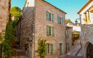 foto Middeleeuwse straatjes dorp Penne d'Agenais