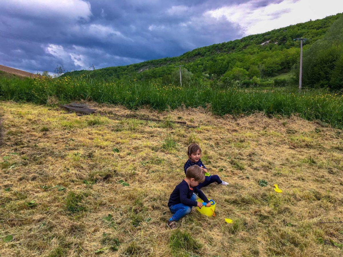 foto kinderen spelen Domaine du Merlet Lot-et-Garonne