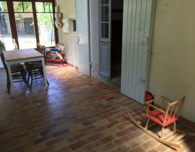 veranda gîte vakantiehuisje Domaine du Merlet Zuid Frankrijk