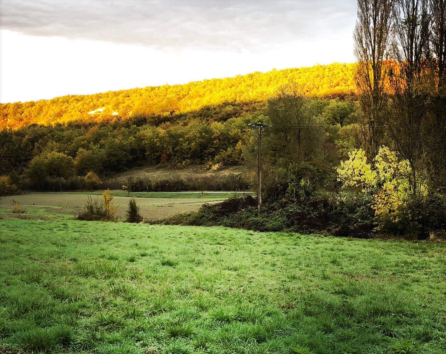fraai uitzicht cabane Domaine du Merlet Zuid Frankrijk
