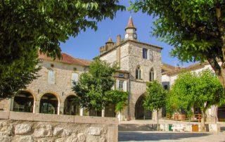 bastide dorp Monflaquin Lot-et-Garonne Zuid Frankrijk