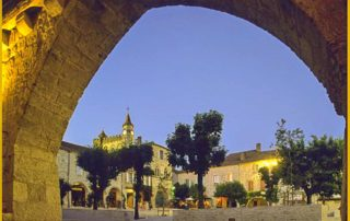 foto Monflaquin bastide dorp Frankrijk